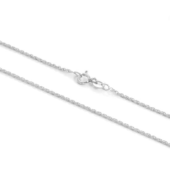 Sterling Silver 1mm Rope Chain 16 - 24 Inches