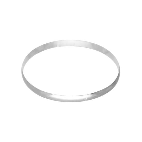 Sterling Silver Plain Round 68mm Bangle