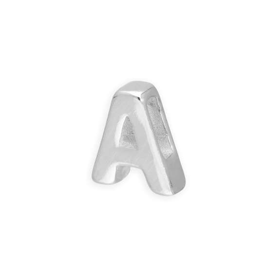Sterling Silver Alphabet Letter Threader Bead A
