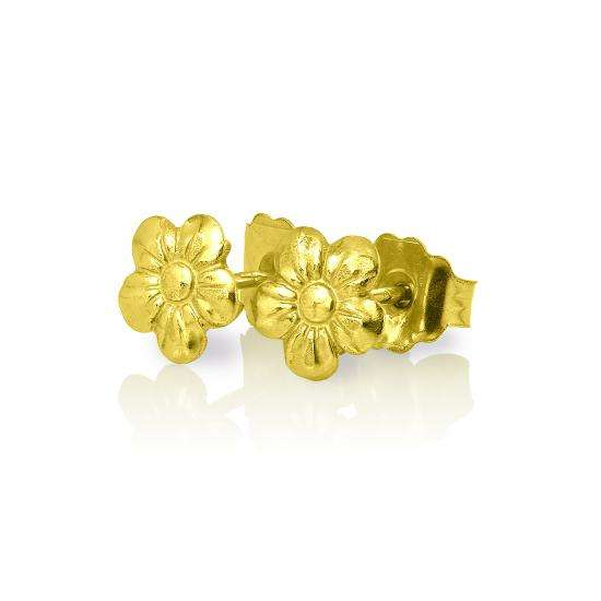 Cute Small 9ct Gold Flower Stud Earrings