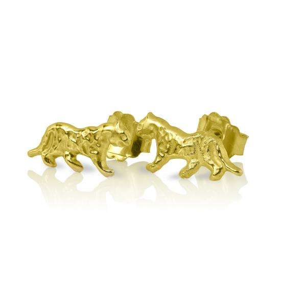 9ct Gold Tiger Stud Earrings