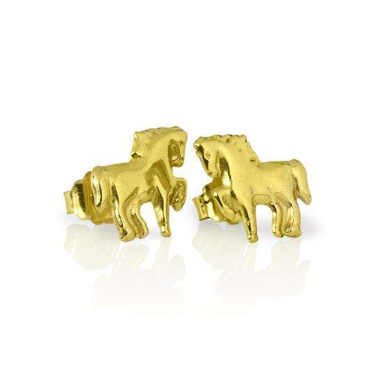 9ct Gold Horse Stud Earrings