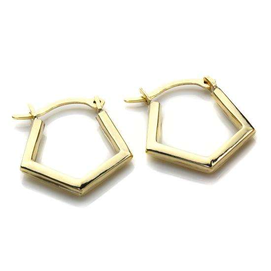 9ct Yellow Gold Fancy Creole Earrings