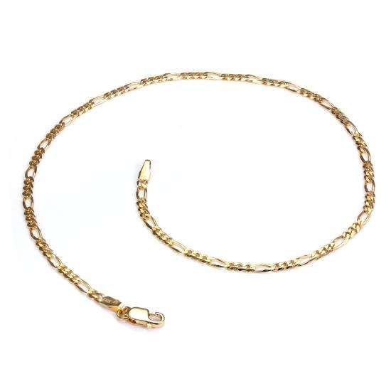 9ct Yellow Gold Figaro Chain Anklet