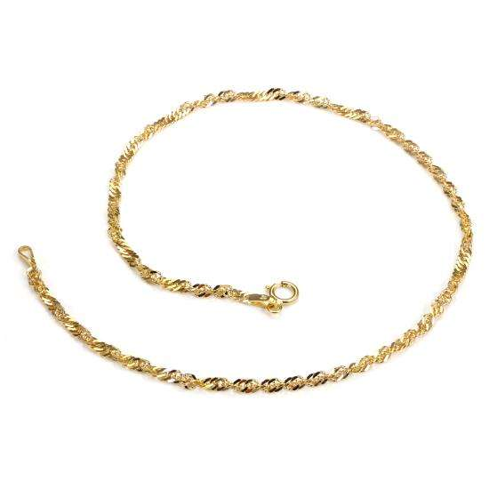 9ct Yellow Gold Singapore Chain Anklet
