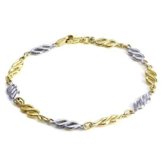 9ct White & Yellow Gold Twist Bracelet