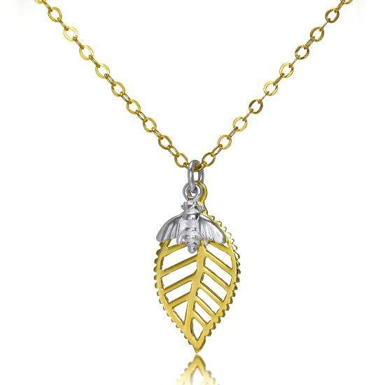 Abella Bee Necklace in Sterling Silver