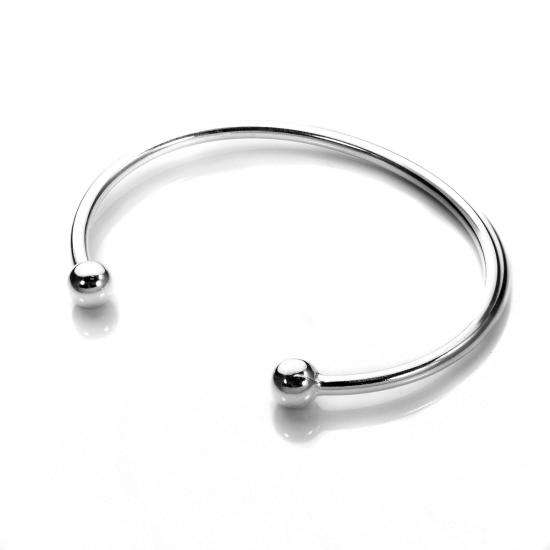 Sterling Silver Maiden Torque Bangle