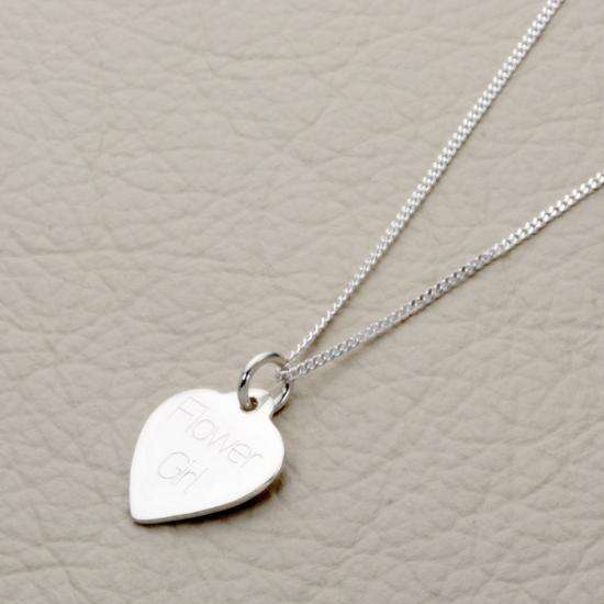 Sterling Silver Personalised Heart Necklace - 16 - 22 Inches