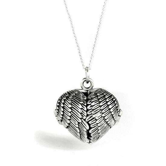 Sterling Silver Winged Keepsake Locket - 16 - 24 Inches