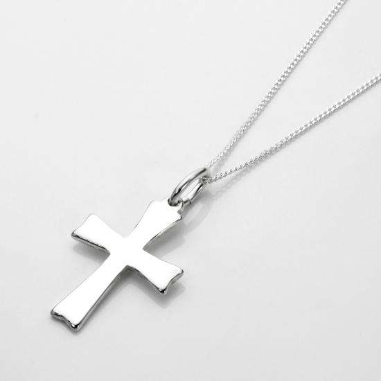 Sterling Silver Cross Necklace - 16 - 22 Inches