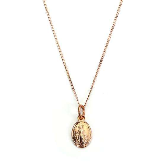 9ct Rose Gold Miraculous Medal Necklace