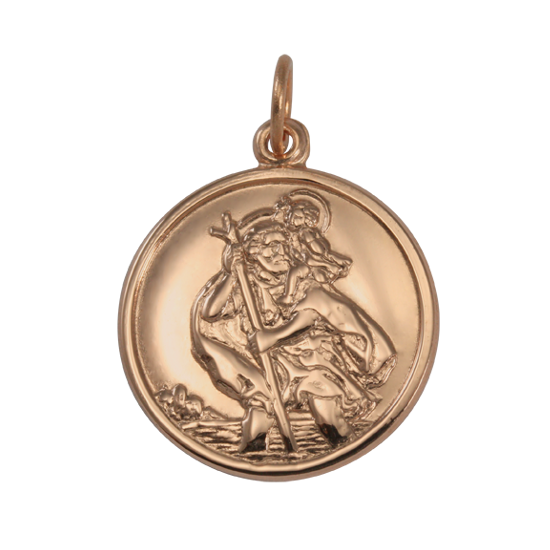 9ct Rose Gold St Christopher Pendant