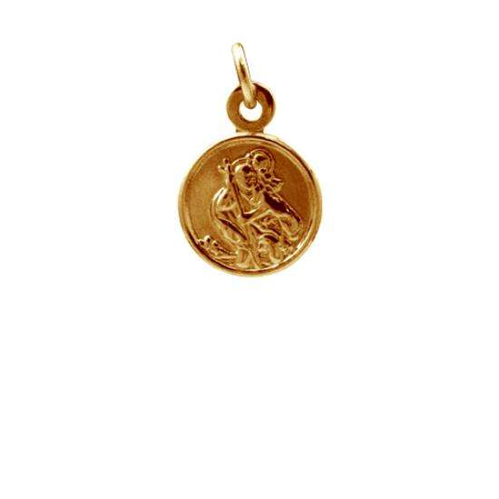 9ct Rose Gold Small Round Saint Christopher