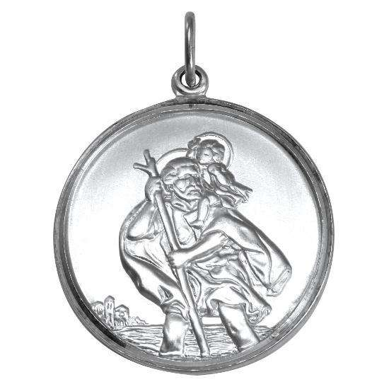 Sterling Silver Christopher Pendant