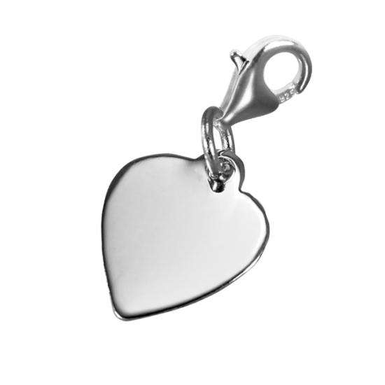 TheCharmWorks Small Engravable Heart Clip on Charm