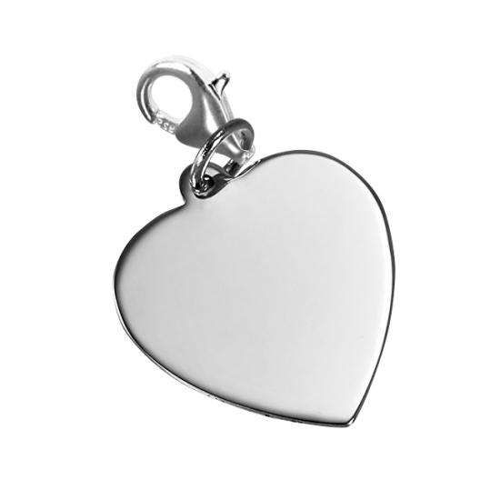 TheCharmWorks Large Engravable Heart Clip on Charm