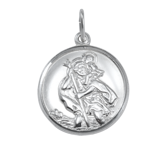 Sterling Silver St Christopher Pendant