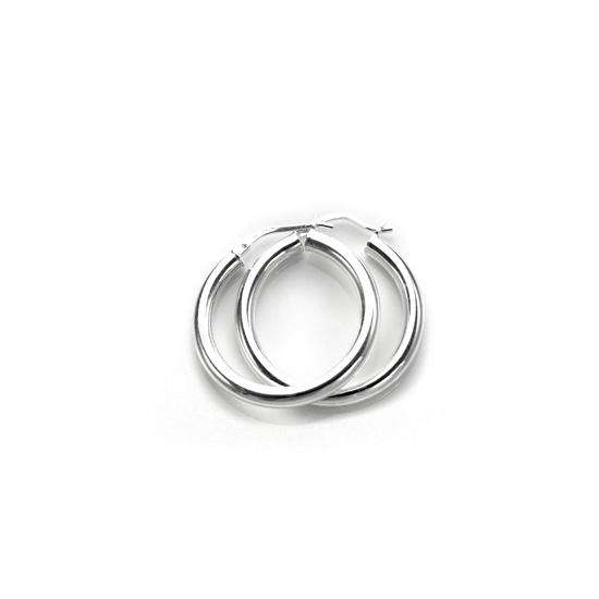 Sterling Silver Plain 3mm 20mm Round Hoop Earrings