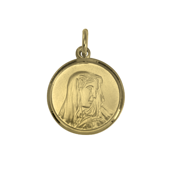 9ct Gold Madonna With Child Medal