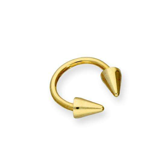 9ct Gold Double Arrow Head Nose Ring