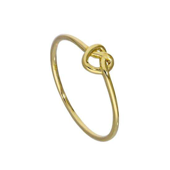 9ct Gold Heart Knot Ring Sizes I - U