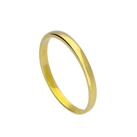 9ct Gold 2mm Wedding Band Ring Size I - U