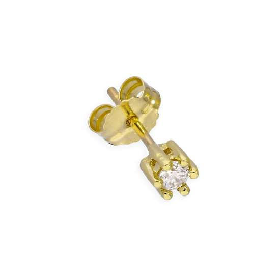 9ct Gold & 0.05ct Diamond Single Stud Earring