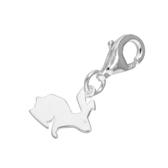 Sterling Silver Hare Clip on Charm