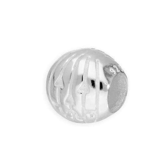 Sterling Silver Carved Pumpkin Bead Charm