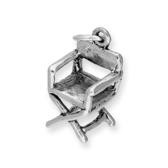 Sterling Silver Directors Chair Charm