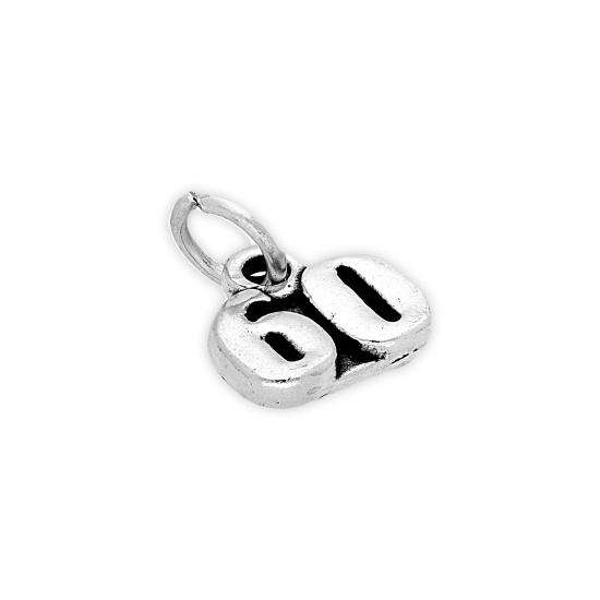 Sterling Silver 60 Charm