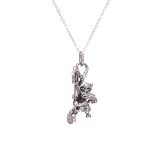 Sterling Silver Devil Necklace
