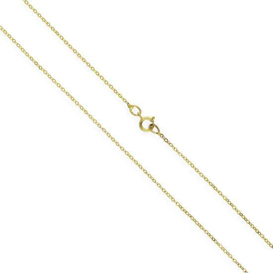 9ct Yellow Gold Hammered Trace Chain 16 - 24 Inches