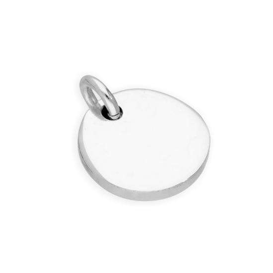 Sterling Silver Engravable Round Charm