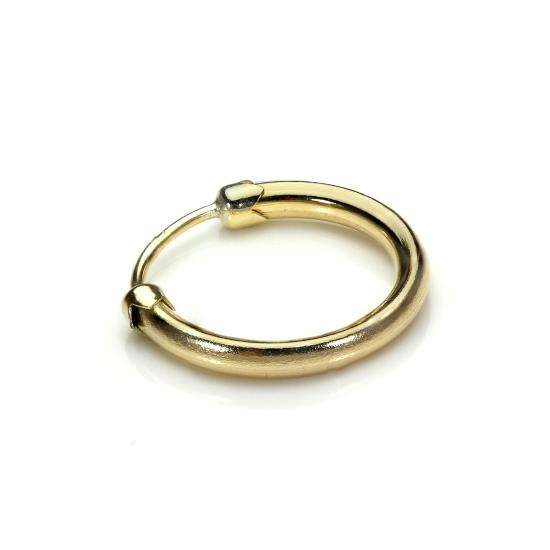 9ct Yellow Gold Capped 11mm Mens Hoop Single Earring