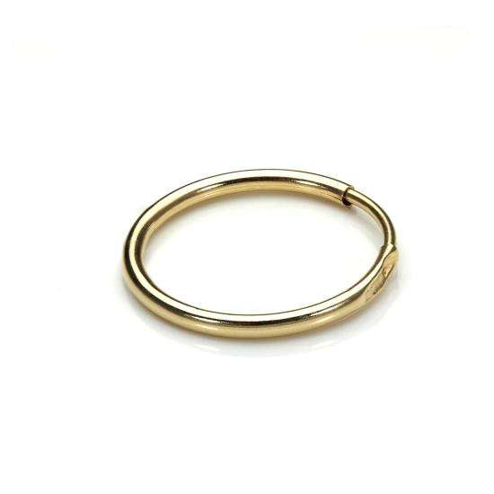 9ct Yellow Gold 13mm Mens Hoop Single Earring