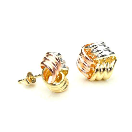 9ct Yellow Gold 10mm Knot Stud Earrings