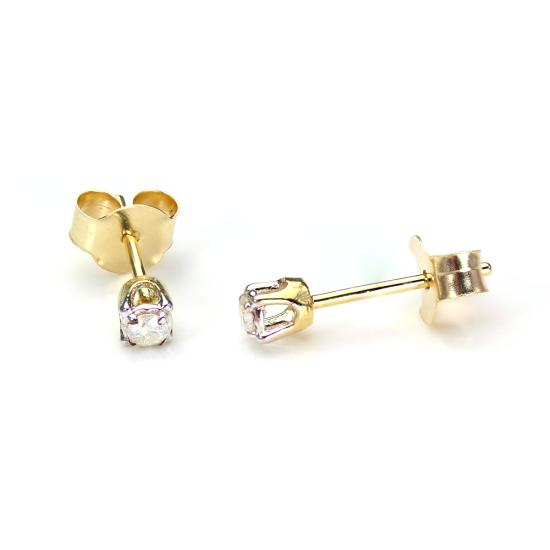 Indian Jewellery design 2016 9ct Gold Stud Earrings