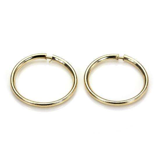 9ct Gold Lightweight Plain 10mm Hoop Sleeper Earring Hoops