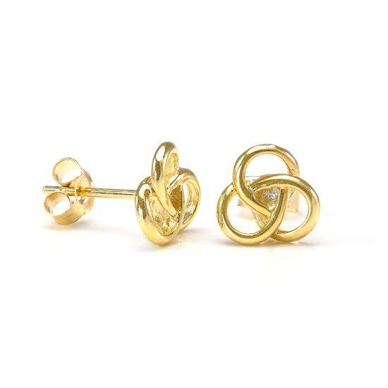 9ct Gold Celtic Knot Stud Earrings