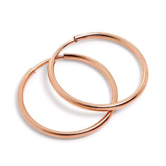 9ct Rose Gold 18mm Sleeper Hoop Earrings