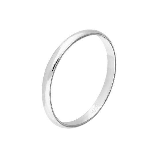 Sterling Silver 2mm Simple Wedding Band