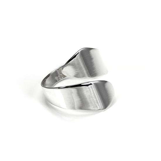 Sterling Silver Wide Adjustable Tapering Spiral Ring