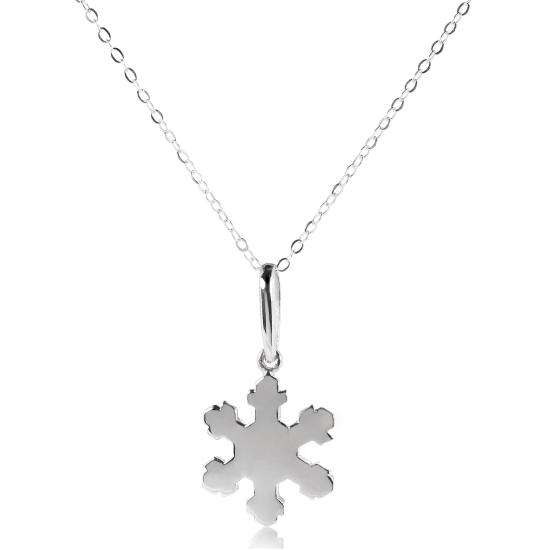Sterling Silver Christmas Snowflake Pendant