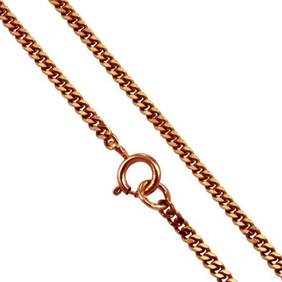9ct Rose Gold Diamond Cut Curb 20 Inch Chain