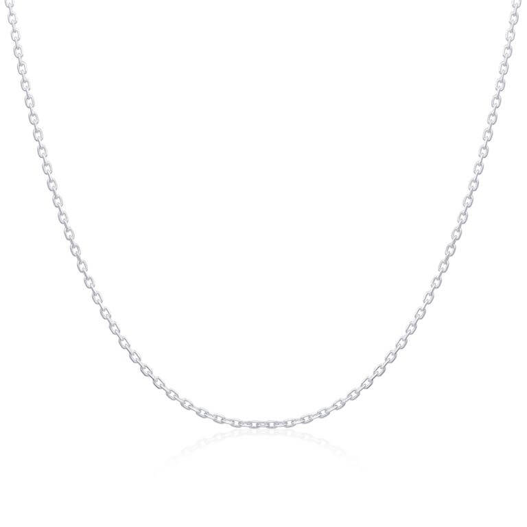 Sterling Silver Diamond Cut Trace Chain 16 - 18 Inches