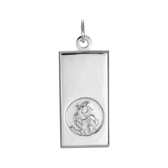 Sterling Silver Modern Saint Christopher Pendant