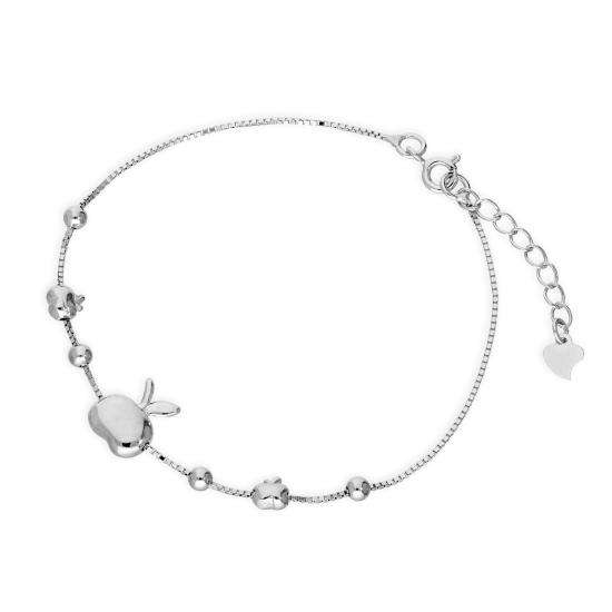 Sterling Silver Apples Bracelet