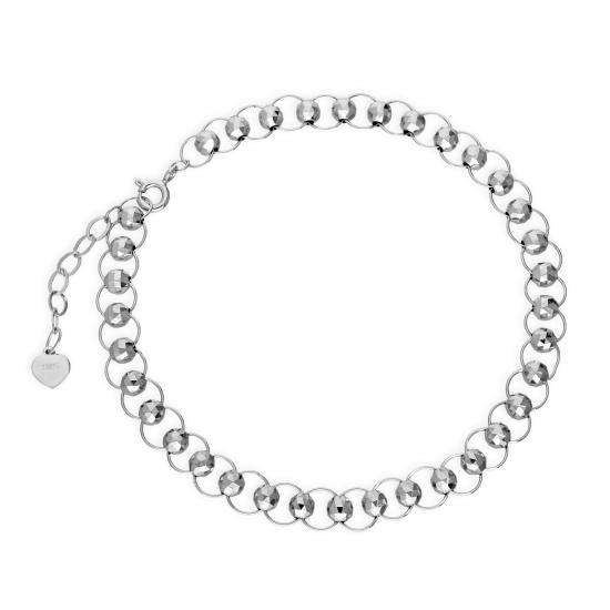 Sterling Silver Beads & Circles Bracelet